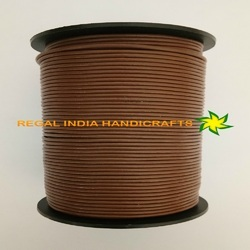 Copper Brown Round Leather Cord