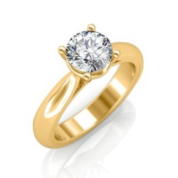 Sarvada Jewels Free Size Real Classic Engagement Rings In Yellow Gold