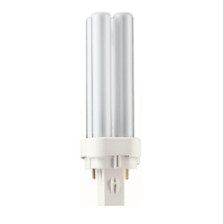 Glass Incandescent White Philips MASTER PL-C 10W/827, Model Name/Number: 927903882740, Base Type: G24D-1 (2P)