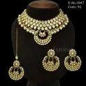 Casual Wear Traditional Indian Wedding Kundan Necklace Set