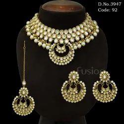 Traditional Indian Wedding Kundan Necklace Set