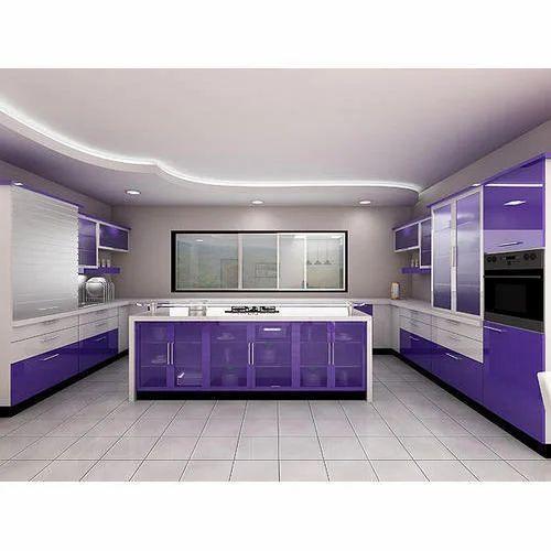 Aluminum Modular Kitchen Designing In Chromepet Chennai: Designer Modular Kitchen At Rs 1 /lakh