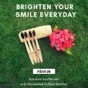 Paivi 7-70 Bamboo Toothbrush With Biobased Bristles, For Cleaning Teeth