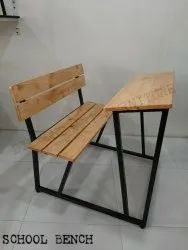 School Bench/ Institutional Bench (Pinewood Top Seat Back)