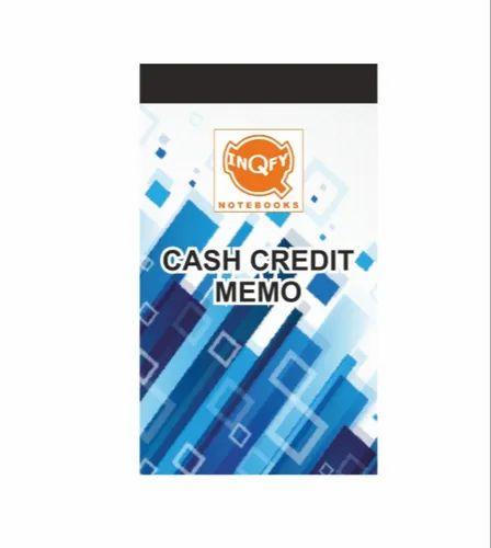 Multicolor InQfy Cash Credit Memo Book, 200