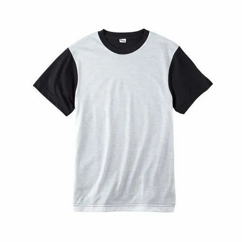 White And Black Mens Sublimation Polyester T Shirt