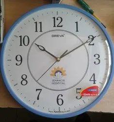 Battries Wall Clock, Warranty: 1 Year