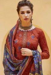 Vastu Netra Lawn Cotton Work Unstitched Dress Material Catalog