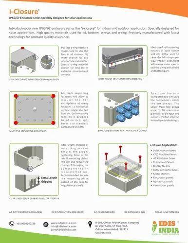 PC ABS Enclosure I-closure IP67 140x190x100