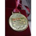 Round Shape Gold Medal