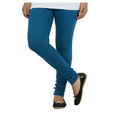 Blue Colour Full Length Cotton Lycra Leggings