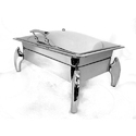 Metal Kraft Stainless Steel Grand Rect 1/1 Lift Top Chafer With Tiger Legs