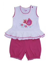 White And Pink Daffodle Girls Wear