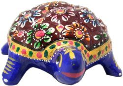 nique Metal Meenakari Work Figurine Turtle - Lucky Charms and Feng Shui Item Decorations/Centerpiece