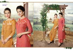 Africa-Fionista New Latest Pure Muslin Designer Kurtis With Palazzo