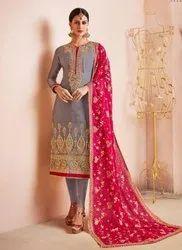 Real Georgette New Designer Churidar Suit