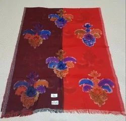Woolen Jamawar Boiled with Hand Painted Stole