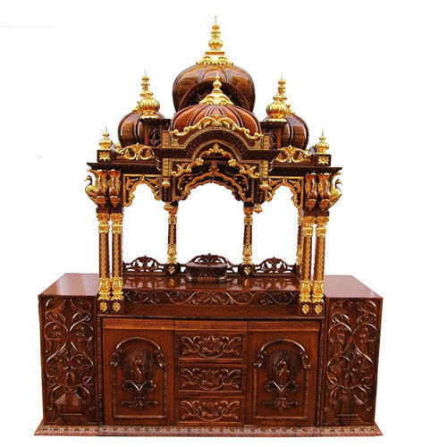 Teak Ply And Teak Wood Altar For Iskcon Deities
