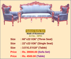 Grey And Brown Saloni Sofa Set