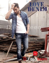 Denim Plain Mens Jeans