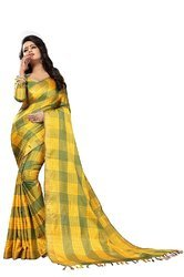 fancy  Nylon Saree with blouse piece