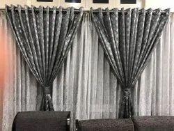 Cotton White Designer Plain Curtain