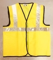 Reflective Vizwear Vests / Jackets 2 Yellow Front Opening In Mesh Fabric
