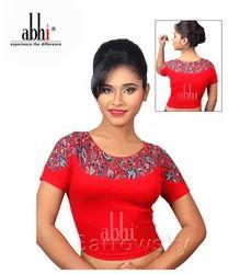 Designer Printed Stretchable Blouse DN2322, Size: Medium