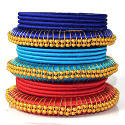 Indian Handcraft Engagement Women Wear Silk Thread Bangles