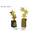 Two Star or Triple Star Wooden Trophies