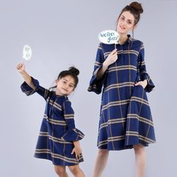 Printed Mother & Daughter Matching Dress
