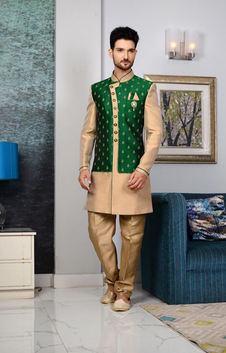 6b6210d56 Men's Wear - Fancy Fabric Function Wear Mens Indo Western Outfit In Black  Color Ecommerce Shop / Online Business from Mumbai
