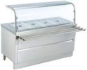 Stainless Steel Bain Marie with Sneeze Guard