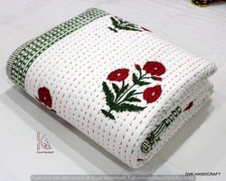 Hand Block Print Kantha Quilts