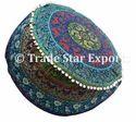 Round Mandala Pouf Ottoman