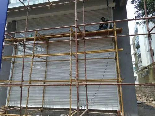 Mild Steel Full Height Automatic Rolling Shutter, Depending Upon The Height, Push Button And Remote