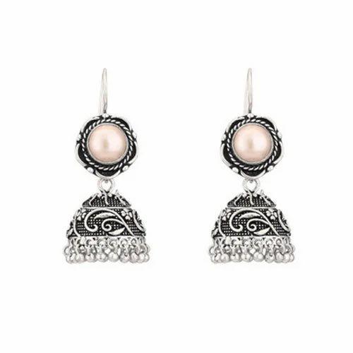 Designer Handmade Sterling Silver Jhumka Earring