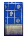 Party Wear Golden Zari Work  Nylon Silk Saree