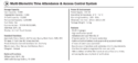 U Face 602 eSSL Multi-Biometric Time Attendance And Access Control System