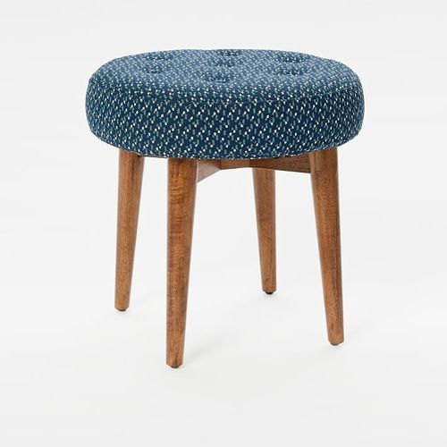 Round Wooden Soft Cushion Stools Height 20 Inch
