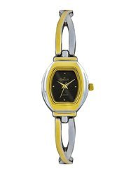 Max Analog Gold Silver Black Dial Women's Watch - Bls205a002