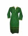 Cotton Top Dark Green Designer Kurti