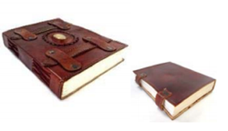 Leather Embossed Journal With Belt