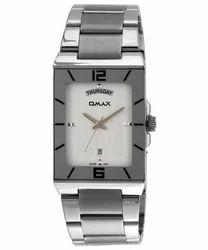 Omax Analog White Dial Men's Watch - SS396
