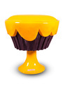 Ice Cream Cup Cake Chair/ Stool- Yellow