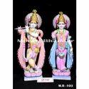 Lord Radha Krishna White Makrana Marble Statue