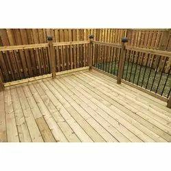 Light Brown Wooden Deck Flooring