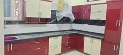 Acrylic Finished Modular Kitchen