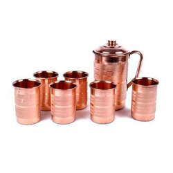 Copper Glass With Water Jug Set of 20