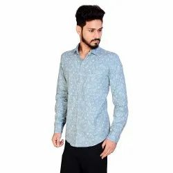 Cotton Sky Aadhar Printed Shirts, Size: S To 2xl